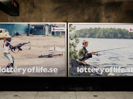 Save the Children Outdoor Ad -  The Lottery of Life, Sierra Leone vs Sweden