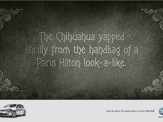 Volkswagen Print Ad -  Paris Hilton