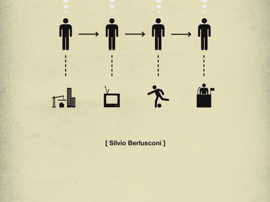 Quercus Books Print Ad -  Life in five seconds, Silvio Berlusconi