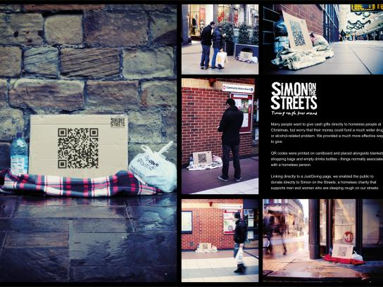 Simon Community Ambient Ad -  QR codes
