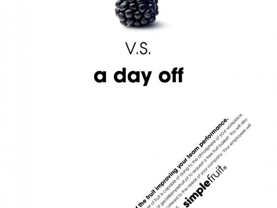 Simple Fruit Print Ad -  Day Off