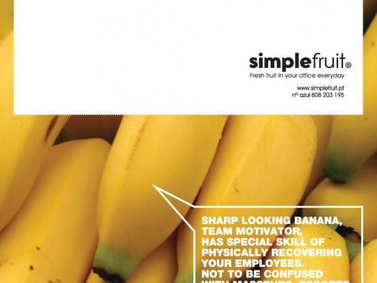Simple Fruit Print Ad -  Banana