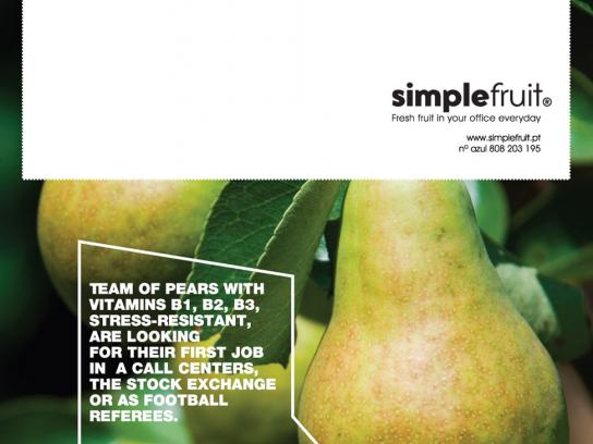Simple Fruit Print Ad -  Pear