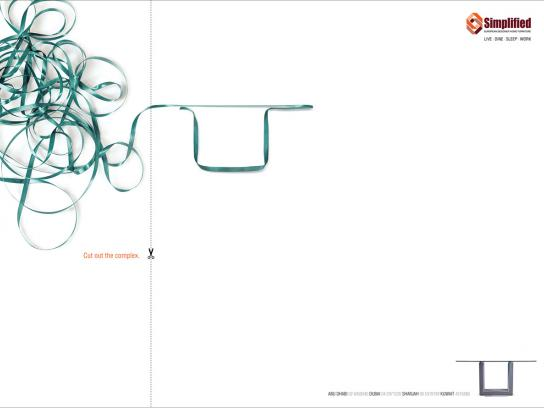 Simplified Print Ad -  Cut out the complex, 3