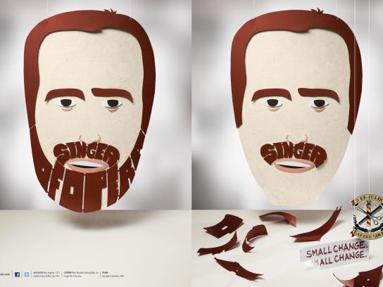 9 de Julho Print Ad -  Beards, Singer of the Opera/Singer