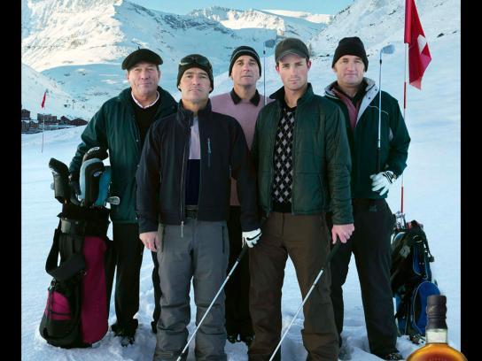 The Singleton Print Ad -  Alpine Snow Golfers