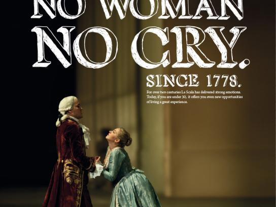 Teatro alla Scala Print Ad -  No woman no cry