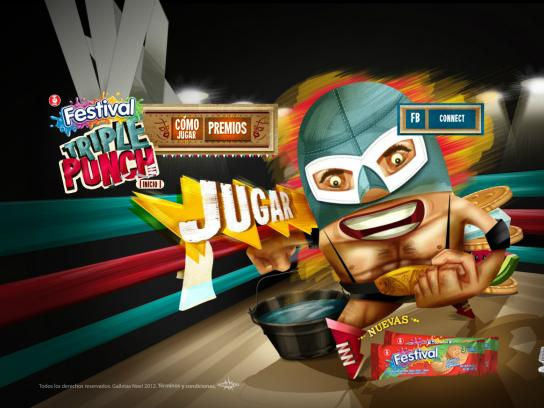Festival Sandwich Cookie Digital Ad -  Festival Triple Punch