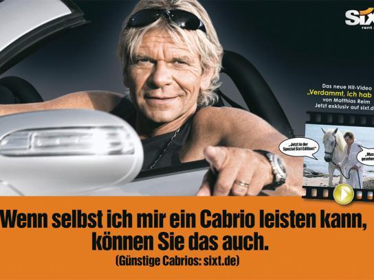 Sixt Print Ad -  Matthias Reim Case