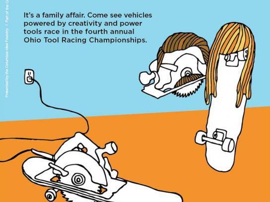 Ohio Tool Racing Championships Print Ad -  Circular Saw