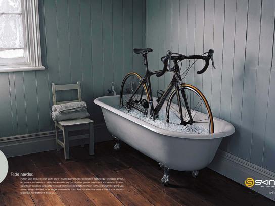 Skins Print Ad -  Ice bath