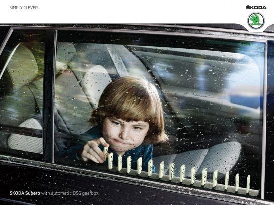 Skoda Print Ad -  Domino