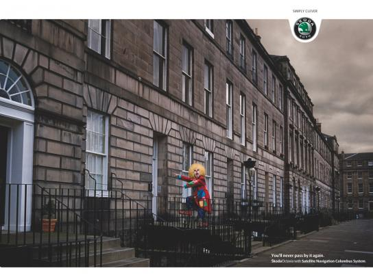 Skoda Print Ad -  Clown