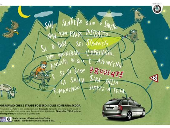 Skoda Print Ad -  Mountains