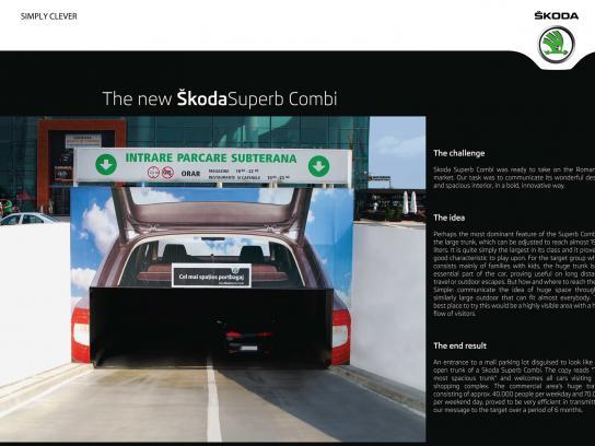 Skoda Outdoor Ad -  Trunk Tunnel