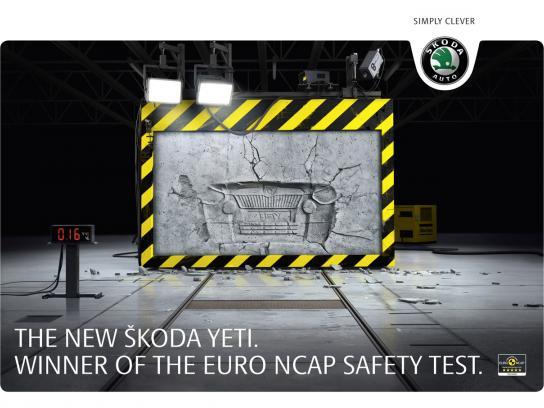 Skoda Print Ad -  NCAP safety test