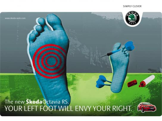 Skoda Print Ad -  Darts