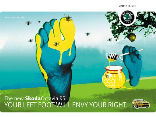 Skoda Print Ad -  Bees