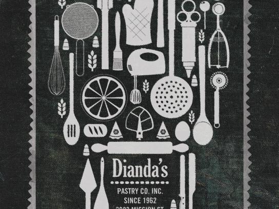 Dianda's Bakery Outdoor Ad -  Día de los Muertos invitation