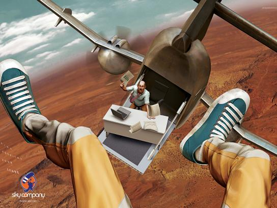 Sky Company Skydiving Print Ad -  Boss