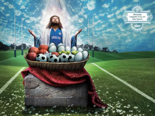 SKY Print Ad -  Miracles, Castrogiovanni