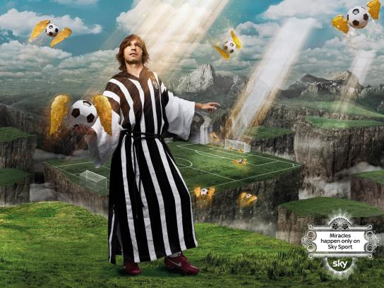 SKY Print Ad -  Miracles, Pirlo