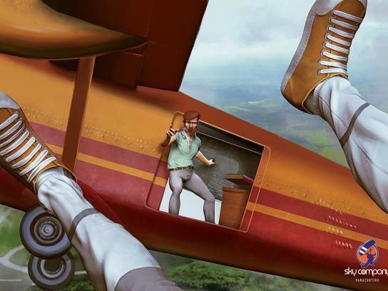 Sky Company Skydiving Print Ad -  Teacher