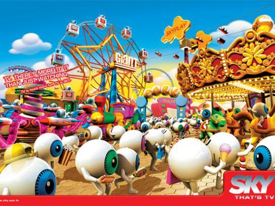SKY Print Ad -  Amusement park