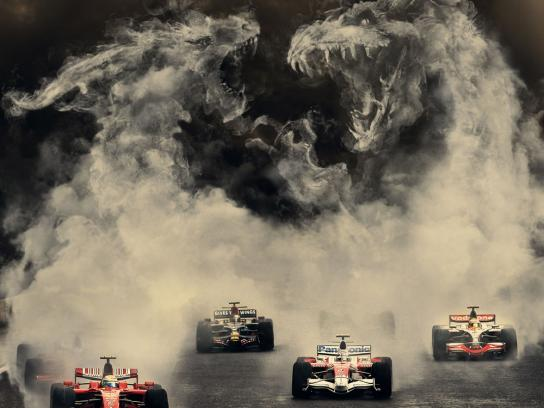 SKY Print Ad -  F1 Monsters