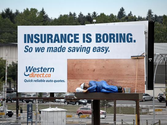 Western Direct Insurance Outdoor Ad -  Sleeping
