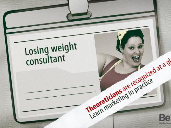Be first Print Ad -  Losing weight consultant