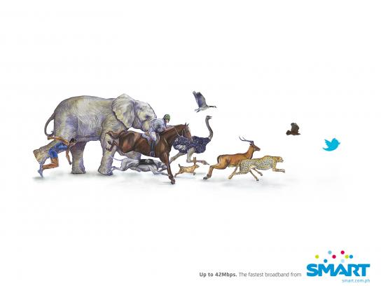 SMART Broadband Print Ad -  Speed Chart