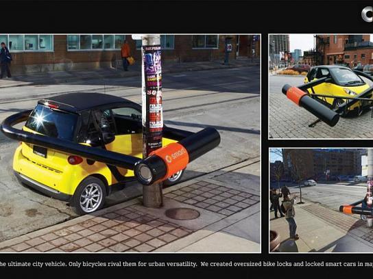 Smart Ambient Ad -  Bike lock
