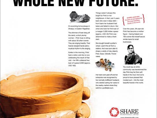 Share Microfinance Print Ad -  Pot