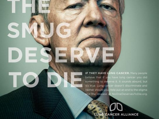 Lung Cancer Alliance Print Ad -  Smug
