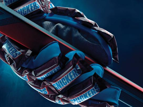 Snickers Print Ad -  Ice-hockey glove