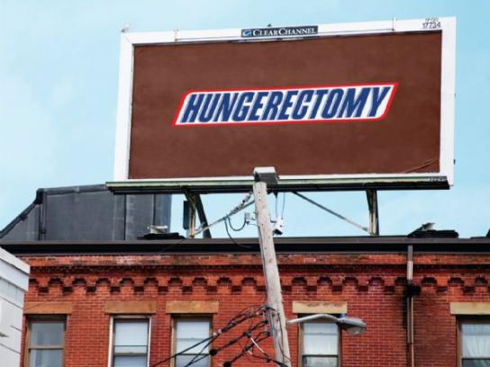 Snickers Print Ad -  Hungerectomy