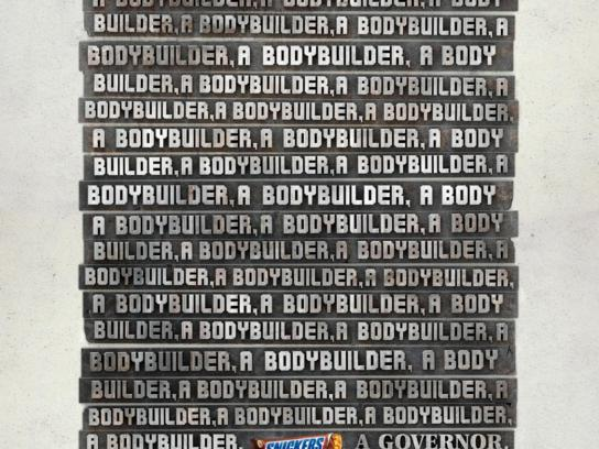 Snickers Print Ad -  Body Builder