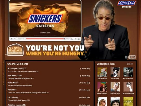 Snickers Digital Ad -  You're not you when you're hungry on YouTube