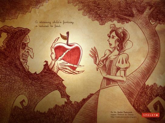 Spoleto Print Ad -  Food Fantasy, Snow White