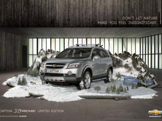 Chevrolet Print Ad -  Snow