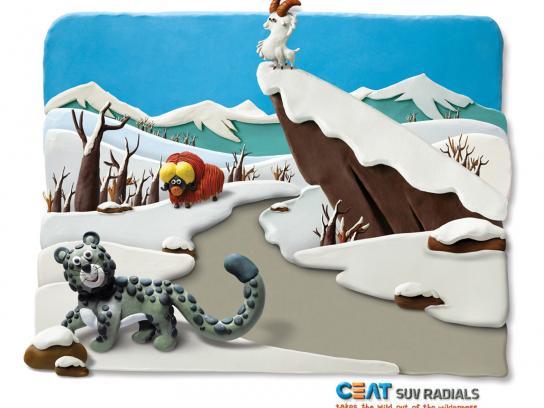 CEAT Print Ad -  Snow