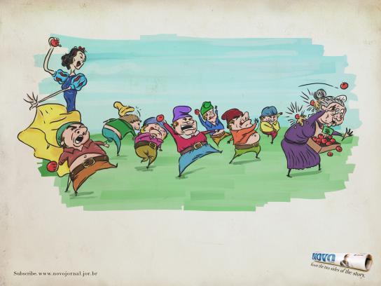 Novo Jornal Print Ad -  Snow White
