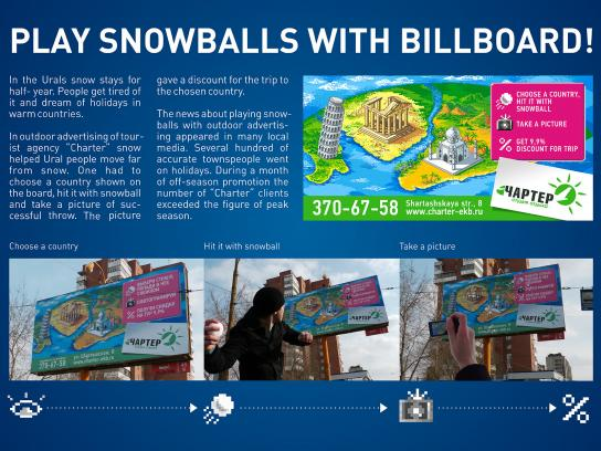 Charter Tourist Agency Outdoor Ad -  Snowballs