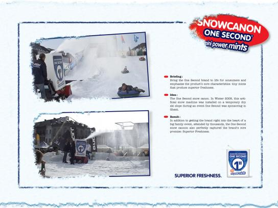One Second Ambient Ad -  Snow Canon