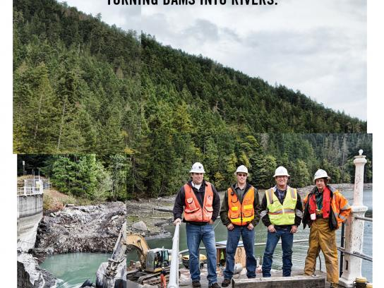 KEEN Utility Print Ad -  Project RE-BOOT, Elwha Dam