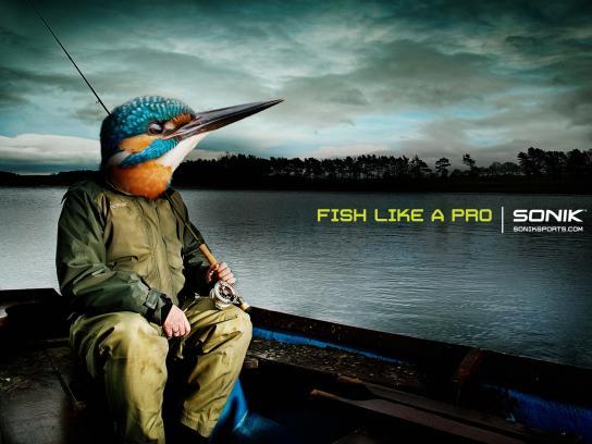 Soniksports.com Print Ad -  Fish like a pro, 1