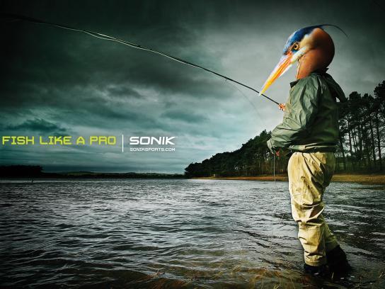 Soniksports.com Print Ad -  Fish like a pro, 2
