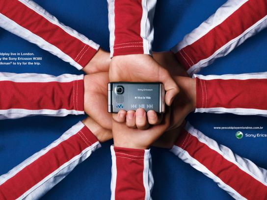 Sony Ericsson Print Ad -  Coldplay