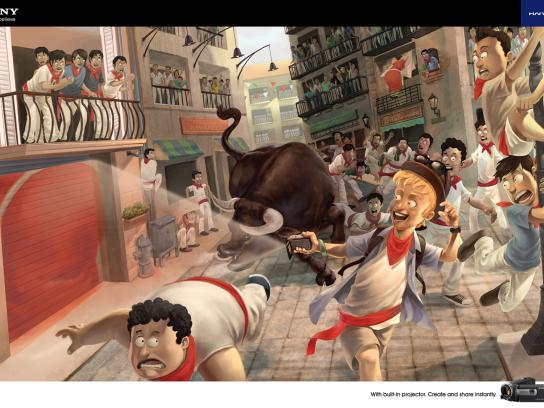 Sony Print Ad -  Bull Run